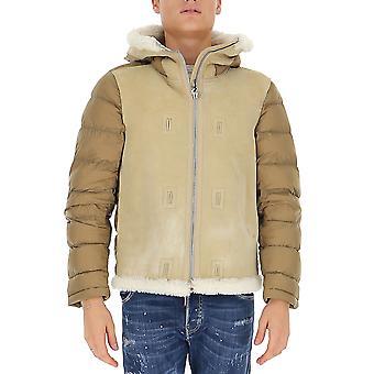 Ten C 19ctcud03093005107338 Men's Beige Nylon Outerwear Jacket
