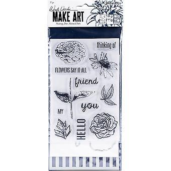 ウェンディ・ヴェッキがアートスタンプを作り、ダイ&ステンシルセット - 花はそれをすべて言う