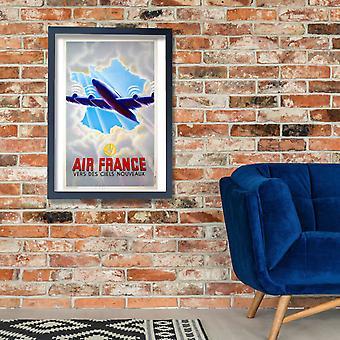 Air France Vers Des Ciels Nouveaux Poster Print Giclee