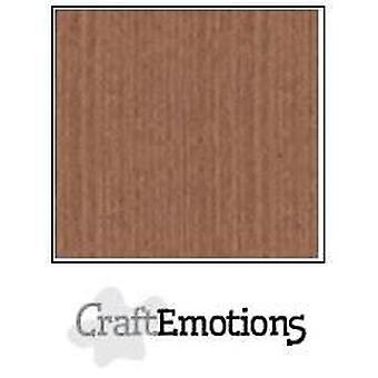 CraftEmotions linnen karton 10 Sh terra bruin LHC-76 A4 250gr