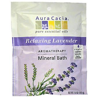Aura cacia aromatherapy mineral bath, relaxing lavender, 2.5 oz