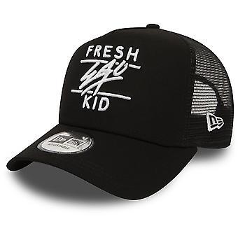 Fresh Ego Kid Mesh Trucker Baseball Cap Black 18
