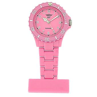 Prince London Plastic Pink Rotating Bezel Unisex Nurses Fob Watch PI-4010