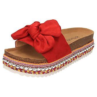 Krush  Black Chunky Flatform Sandals Sliders Mules Wedges