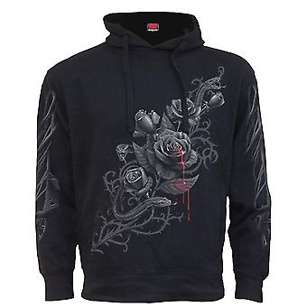 Spiral Direct Gothic FATAL ATTRACTION - Side Pocket Stitched Hoody Black|Roses|Blood|Snake|Tribal