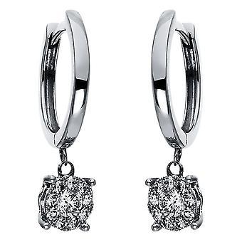 Diamond earrings earrings - 18K 750/- white gold - 0.34 ct. - 2H348W8-1