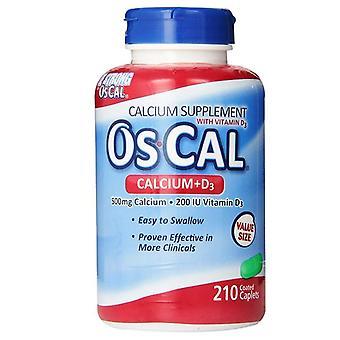 Os cal calcium, 500 mg, with vitamin d3, caplets, 210 ea