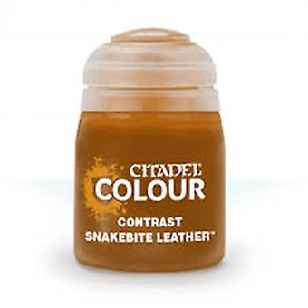 Contrast: Snakebite Leather (18ml) ,Citadel Paint Contrast, Warhammer 40,000