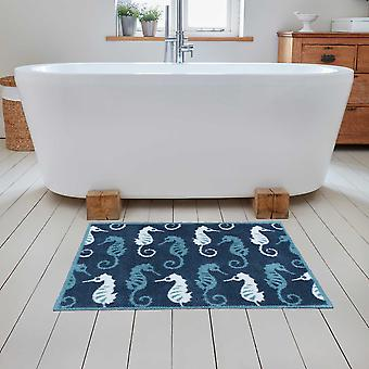 Bathroom Seahorse Mats In Blue By Turtlemat