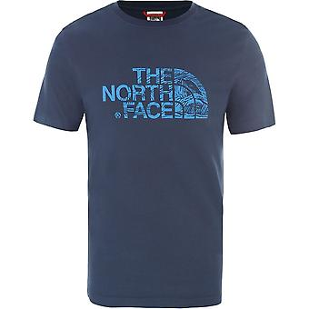 De North Face Woodcut Dome T0A3G1N4L universele zomer mannen t-shirt