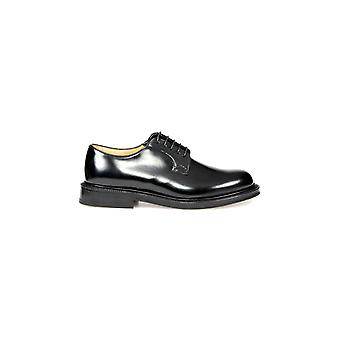 CHURCH'S BLACK SHANNON DERBY LACE UP