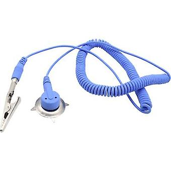 Quadrios ESD earth cable 1.80 m Clamp, 10 mm stud and socket, Plug, Alligator clip