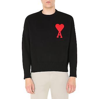 Ami A20hk009006001 Männer's schwarz Baumwolle Pullover