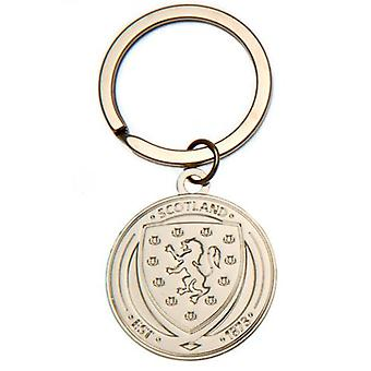Scotland FA Silver Plated Keyring