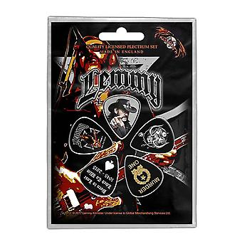 Lemmy Plectrum Pack Stone Death Forever Band Logo Official 5 Pack Guitar Picks