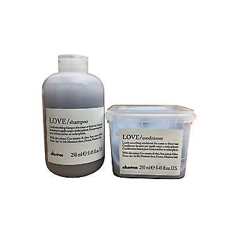 Davines Love Smoothing Shampoo & Conditioner Set 8.45 OZ Each