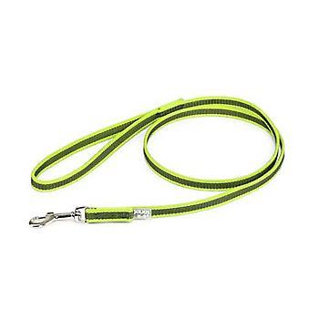 يوليوس-K9 اللون &; رمادي فائقة قبضة المقود - نيون رمادي العرض (1/2 & نقلا عن/ 14mm) لينغت (4ft / 1.2 م) مع مقبض، ماكس ل66 £ /30 كجم الكلب