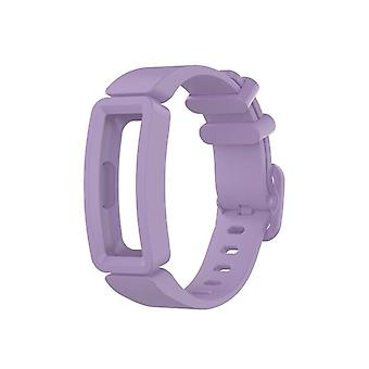 Replacement Silicone Band Strap Bracelet for Fitbit Ace 2/Inspire/Inspire HR[Light Purple]