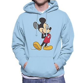 Disney Mickey Mouse lykkeligt skjule paws mænd ' s hættetrøje