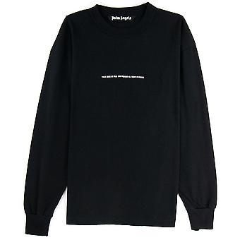 PALM ANGELS Palm Angels PXP Tonal L/s T Shirt Black/black