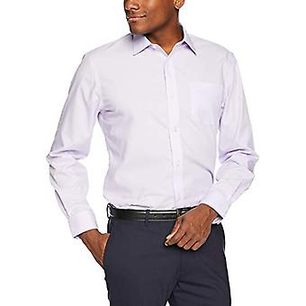 """Camicia in abito solido a maniche lunghe resistente alle rughe resistente alle rughe di Essentials, lavanda, 15,5"""" collo 32""""-33"""" Manica"""