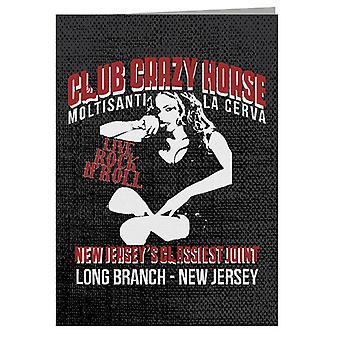 Club Crazy Horse The Sopranos Greeting Card