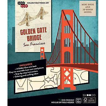 IncrediBuilds San Francisco Golden Gate Bridge Book and 3D Wood Model by Insight Editions