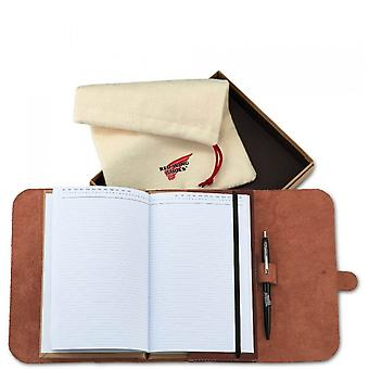 Red Wing Leather Journal Oro Russet Unisex Diary Notebook in Red Mahogany