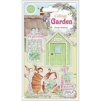 Craft Consortium Cottage Garden The Potting Shed Stamps