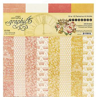 Grafik 45 Princess 12x12 Tum Mönster & Fast papper pad