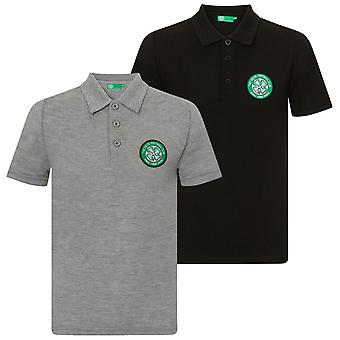 Celtic FC Boys Polo Shirt Crest Kids OFFICIAL Football Gift
