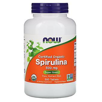 Nu voedingsmiddelen, gecertificeerd biologische Spirulina, 500 mg, 500 tabletten