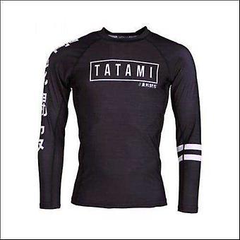 Tatami kanji rash guard - black
