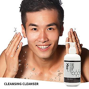 Men's Clean Cool Facial Cleanser, Deep Cleaning Blackhead Remover, Oil Control