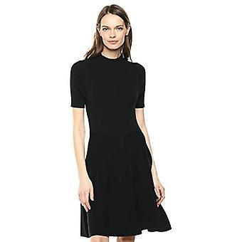 Lerche & Ro Frauen's Matisse Halbarm Trichter Hals ausgeschnitten Kleid, schwarz, X-Sm...
