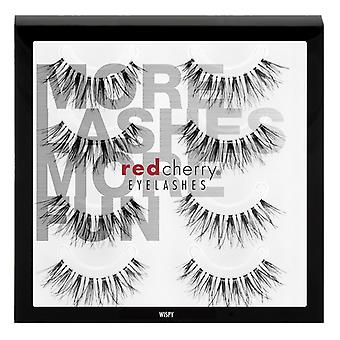 Red Cherry False Eyelashes - #WSP Wispy Multipack 4 Pairs - Cruelty Free Lashes