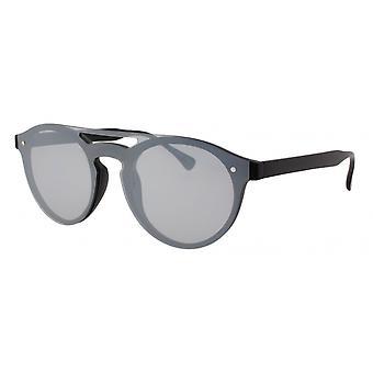 النظارات الشمسية Unisex Cat.3 مات الفضة السوداء (AMU19205 A)