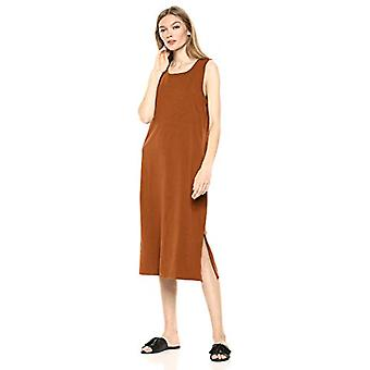 Brand - Daily Ritual Women's Lived-in Cotton Muscle-Sleeve Midi Dress,...