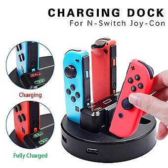 Joy-con Charger Dock Station Led Charging Stand Holder With Micro Usb Cable For Nintendo Switch Console