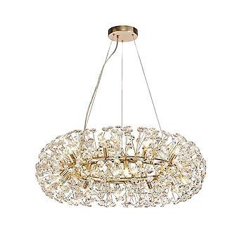 Iluminación Luminosa - Colgante de techo 20 Luz G9 Oro francés, Cristal