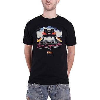 Back To The Future T Shirt Flux Condensator Logo nieuwe Officiële Mens Black