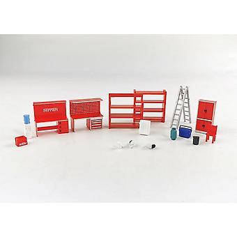 1/64 Model Scene Set, Shelf Table Chair Ladder Water  Garage Auto Repair
