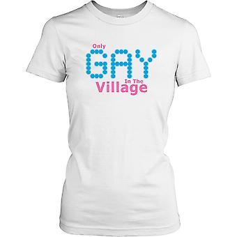 Einzige schwule im Dorf - Little Britain Zitat Damen T Shirt