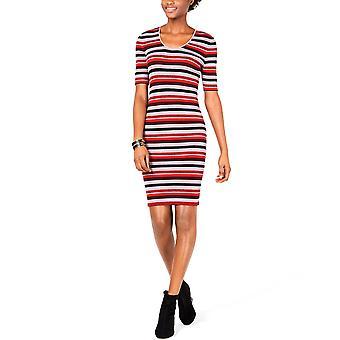 Bar III | Metallic Striped Sweater Dress
