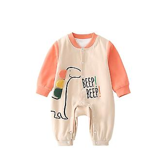 Infant Cotton Romper Long Sleeves Snap Button One Piece