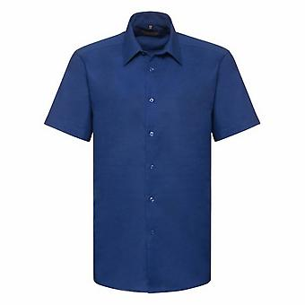 Russell Collection Mens Oxford Easy-Care Tailored Shirt