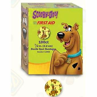 Dukal Adhesive Spot Bandage, 7/8 Inch Plastic Round Kid Design (Scooby Doo), 100 Count