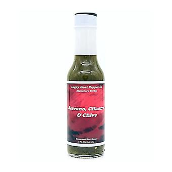 Angry Goat Serrano, Cilantro & Chive Gourmet Hot Sauce