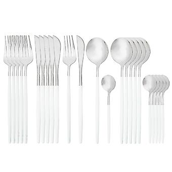 Cutlery, Knife, Fork, Coffee Spoon Tableware,  Stainless Steel Dinnerware Set