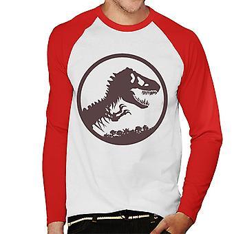 Jurassic Park T Rex Skeleton Icon Men's Baseball Long Sleeved T-Shirt